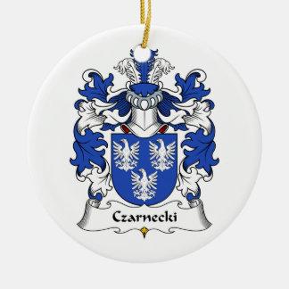 Czarnecki Family Crest Double-Sided Ceramic Round Christmas Ornament