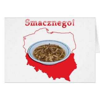 Czarnina Smacznego Polish Map Greeting Card