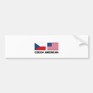 Czech American Car Bumper Sticker
