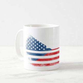 Czech American Flag   Czech Republic and USA Coffee Mug
