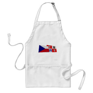 Czech and Central Bohemia Waving Flags Aprons