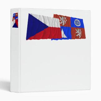 Czech and Liberec Waving Flags 3 Ring Binder