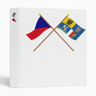 Czech and Moravia-Silesia Crossed Flags 3 Ring Binder