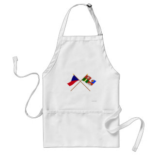 Czech and South Bohemia Crossed Flags Aprons