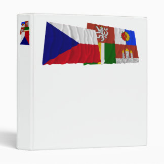 Czech and South Bohemia Waving Flags 3 Ring Binder