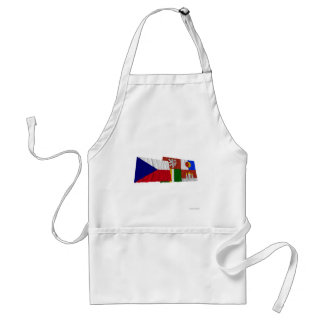 Czech and South Bohemia Waving Flags Aprons