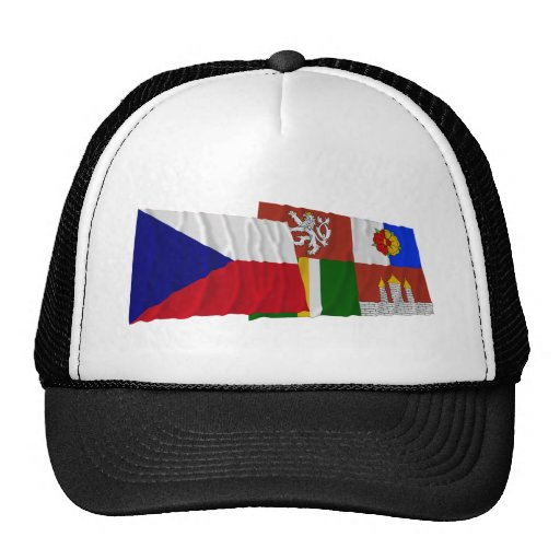 Czech and South Bohemia Waving Flags Hat