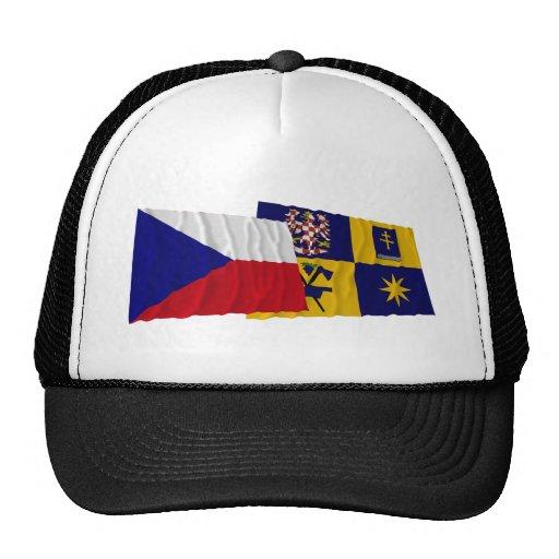 Czech and Zlin Waving Flags Hat