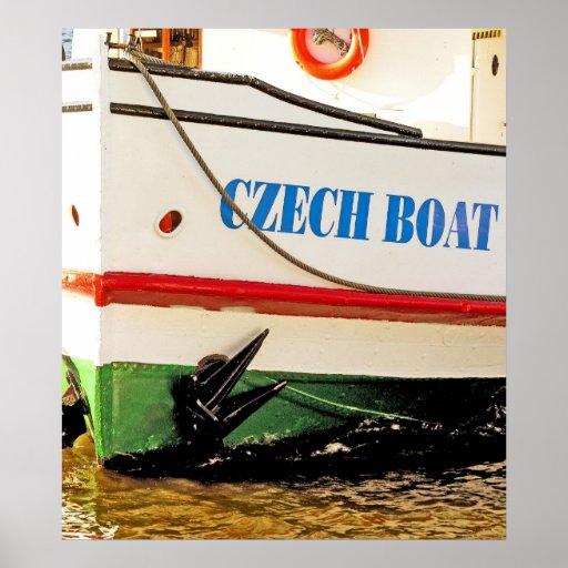 Czech Boat Posters