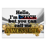 Czech, but call me Awesome Greeting Cards