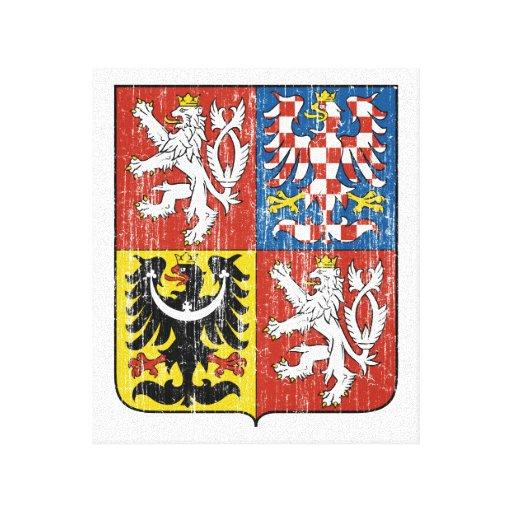 Czech Coat Of Arms Canvas Print