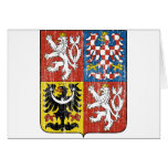 Czech Coat Of Arms Greeting Card