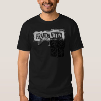 Czech Coat of Arms Grunge Style T Shirt