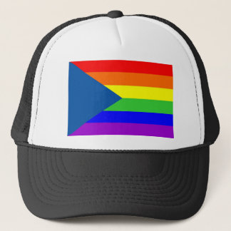 czech country gay proud rainbow flag homosexual trucker hat
