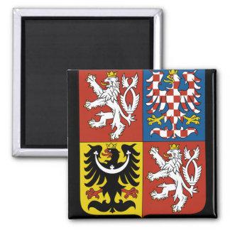 czech emblem 2 inch square magnet