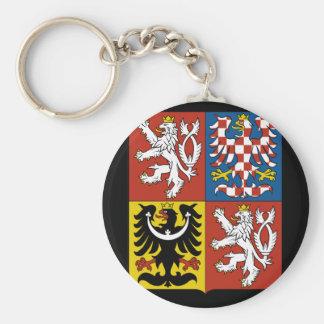 czech emblem basic round button keychain