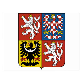 czech emblem post cards