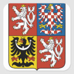 czech emblem square sticker