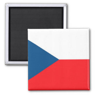 CZECH FLAG 2 INCH SQUARE MAGNET