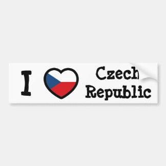 Czech Flag Bumper Sticker