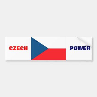 CZECH FLAG BUMPER STICKERS
