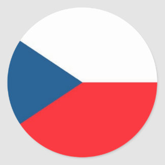 CZECH FLAG CLASSIC ROUND STICKER