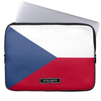 Czech Flag Laptop Computer Sleeves