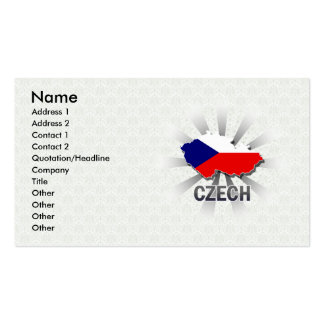Czech Flag Map 2.0 Double-Sided Standard Business Cards (Pack Of 100)
