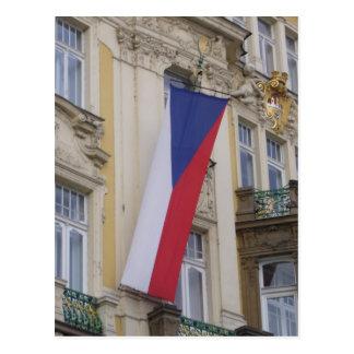 czech flag postcard