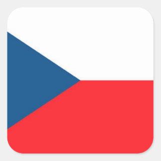 CZECH FLAG SQUARE STICKER