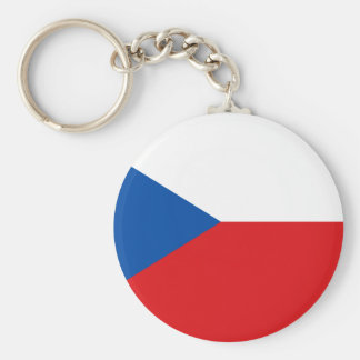 Czech Flag T-shirts and Gifts Basic Round Button Keychain