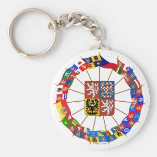 Czech Flags Pinwheel Key Chains