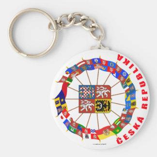 Czech Flags Pinwheel Keychain