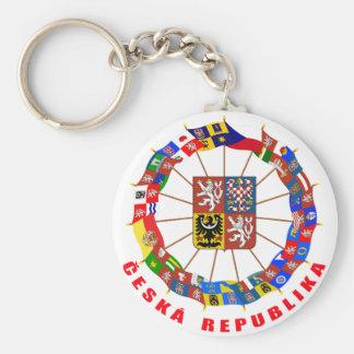 Czech Flags Pinwheel Keychains