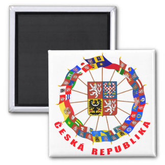 Czech Flags Pinwheel Magnet