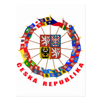 Czech Flags Pinwheel Postcard