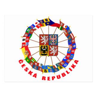 Czech Flags Pinwheel Postcard