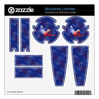 Czech Girl Silhouette Flag Skullcandy Skin