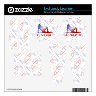 Czech Girl Silhouette Flag Skullcandy Decals