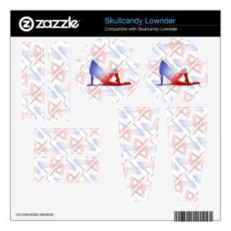 Czech Girl Silhouette Flag Skin For Skullcandy