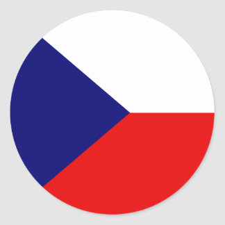 Czech High quality Flag Classic Round Sticker