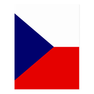 Czech High quality Flag Postcard