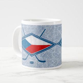 Czech Hockey Flag Logo český Jumbo Mug