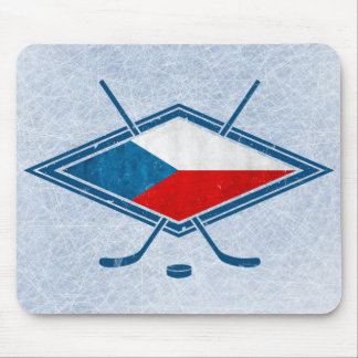 Czech Hockey Flag Logo český Mouse Pad