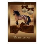 Czech Horse Christmas Holiday Greeting Card