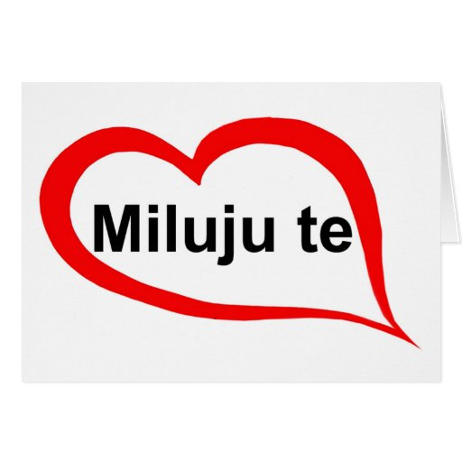 how to say i love you in czech