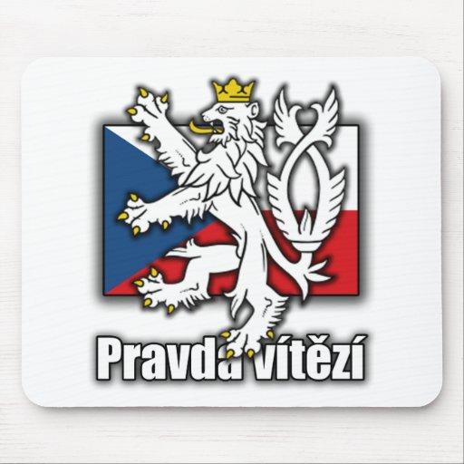 Czech Lion Coat of Arms Flag Mouse Pad
