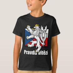 Czech Lion Coat of Arms Flag T-Shirt at Zazzle