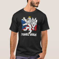 Czech Lion Coat Of Arms Flag T-shirt at Zazzle