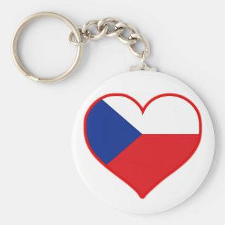 Czech Love Basic Round Button Keychain